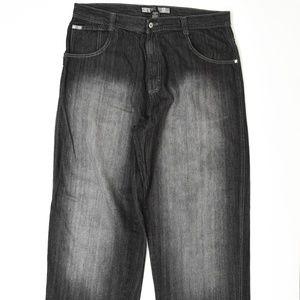 South Pole   Black 40x Baggy Fit Cotton Solid